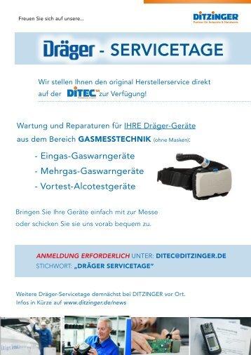 DRÄGER SERVICETAGE exklusive auf der DITEC18!