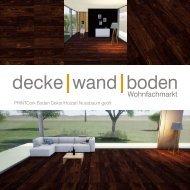 dwb Produktinformation PrintCork Boden Nussbaum geoelt