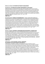 Bücher zum Thema CUSTOMER  RELATIONSHIP ... - CDH