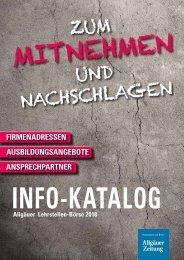 Info-Katalog Allgäuer Lehrstellenbörse 2018
