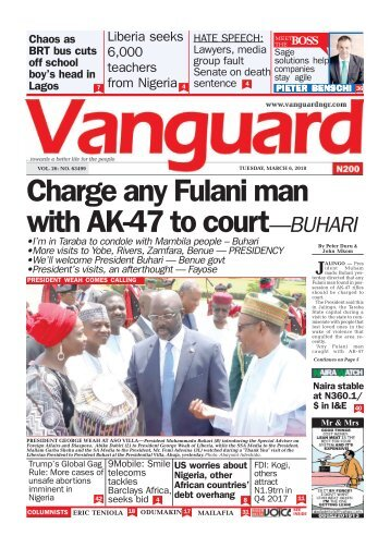06032018 - Charge any Fulani man with AK-47 to court—BUHARI