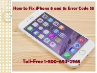 How to Fix iPhone 6 and 6s Error Code 53 Call 1-800-694-2968 Toll-Free