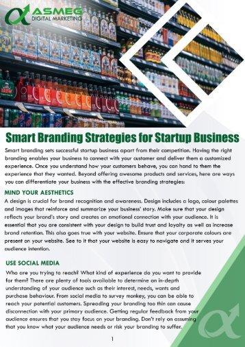 Smart Branding Strategies for Startup Business