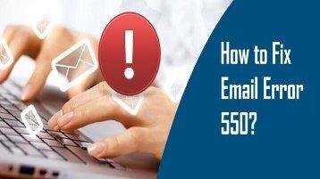1-800-819-6334 | Fix Email Error 550