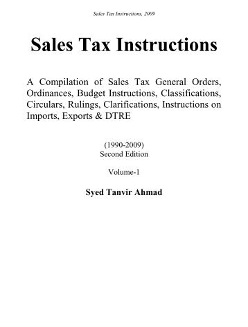 Sales Tax Instructions