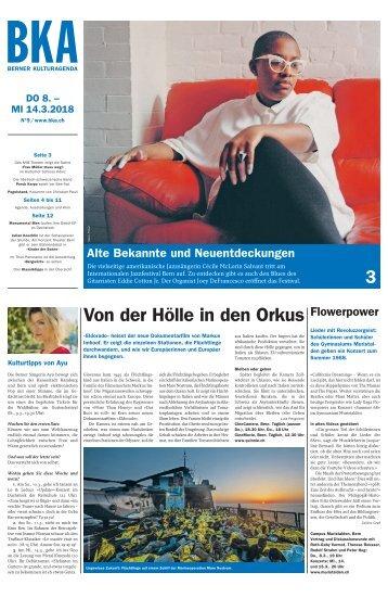 Berner Kulturagenda 2018 N°9