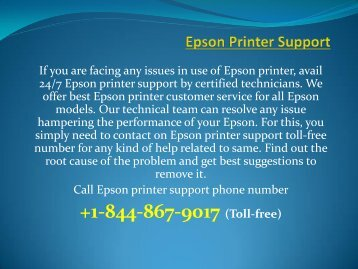 Epson printer support for how to fix Epson printer errors
