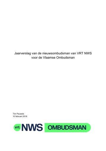 Jaarverslag ombudsman VRTNWS 2017