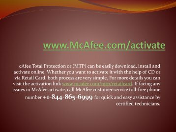 Redeem McAfee retail card by following www.mcafee.com/activate