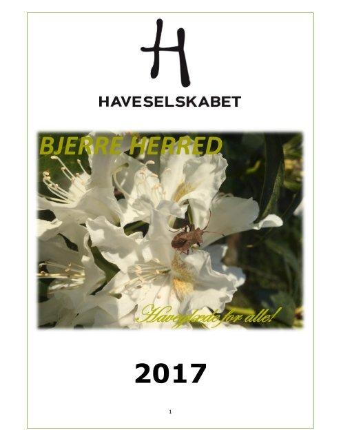Årsprogram 2017 Bjerre Herred Kreds