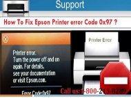 Call 1-800-213-8289 to Fix Epson Printer error Code 0x97