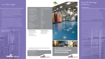 Food & Beverage Facilities... in a New Light - Cooper Industries
