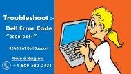 Fix Dell Error Code 2000-0411
