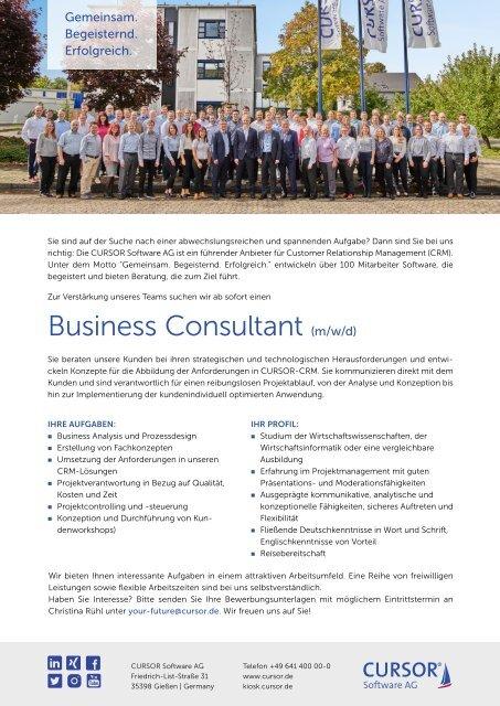 Business Consultant (m/w/d) Stellenanzeige