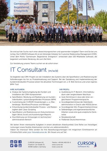 IT-Consultant (m/w/d) Stellenanzeige