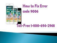 Toll-Free 1-800-694-2968 How to Fix Error Code 9006 iPhone