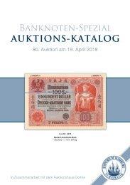 80. Auktion - Banknoten-Spezial - Emporium Hamburg