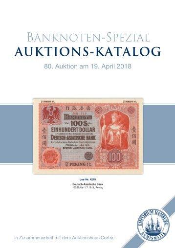 Auktionskatalog 80 - Banknoten-Spezial - Emporium Hamburg