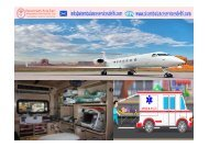 World Class Air Ambulance Service in Patna with Medical Team