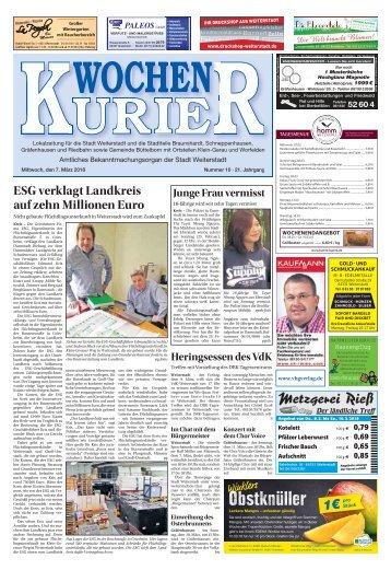 Wochen-Kurier 10/2018 - Lokalzeitung für Weiterstadt und Büttelborn
