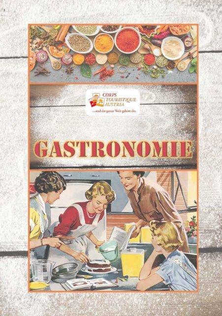 """Corps Touristique Themenbroschüre """"Gastronomie"""""""