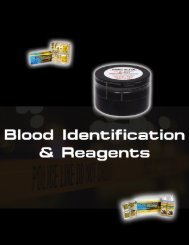 Blood Identification & Reagents
