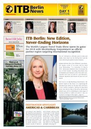 ITB Berlin News 2018 - Day 1 Edition