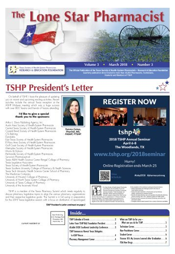 The Lone Star Pharmacist - March 2018