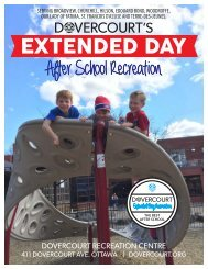 Dovercourt Extended Day After School Recreation program
