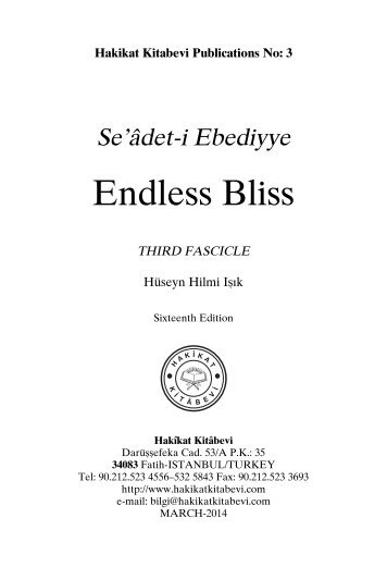 Seadet-i Ebediyye - Endless Bliss Third Fascicle