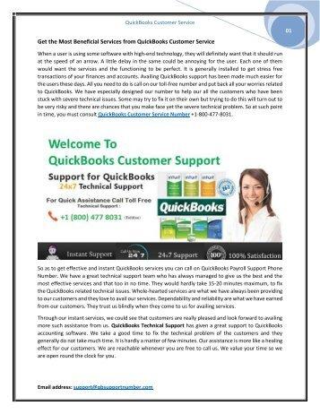 Best Solution via QuickBooks Customer Service Number +1-800-477-8031