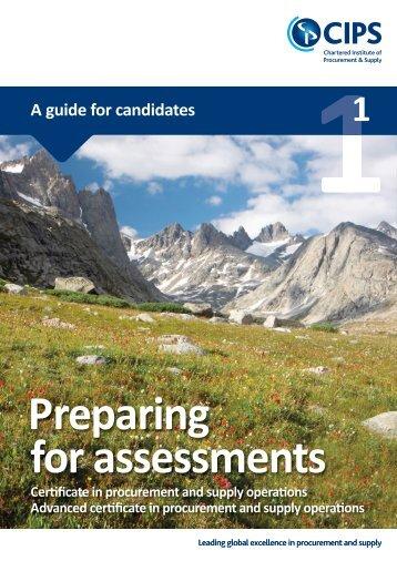 Preparing for CIPS Certificate level assessments