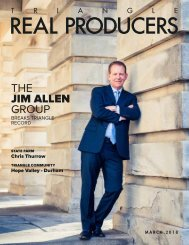 Jim Allen  in the March issues of Triangle Real Producers Magazine