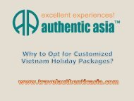 Why to Opt for Customized Vietnam Holiday Packages?