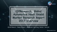 QYResearch: Global Automotive Heat Shield Market Research Report 2017 Overview