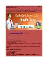 Mozilla browser 1-888-664-3555 support number