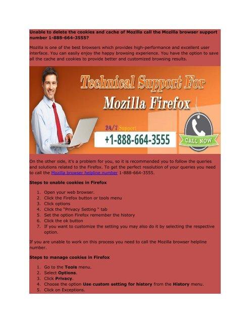 Mozilla browser 1-888-664-3555 support number
