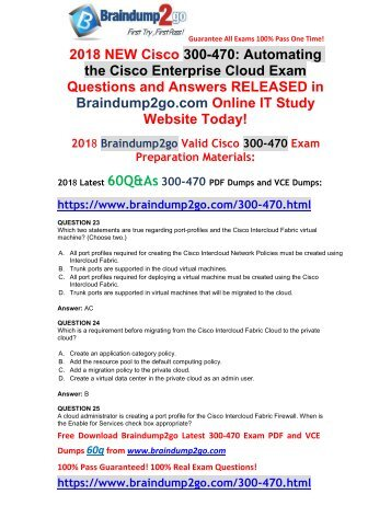 [2018-March-Version]New 300-470 PDF and 300-470 VCE Dumps Free Share(23-32)