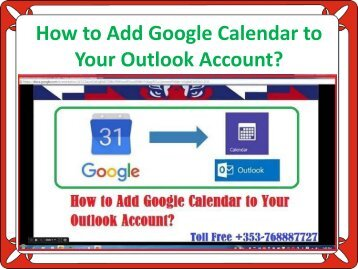 How to Add Google Calendar to Your Outlook Account?