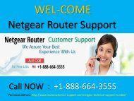 Netgear Router Support Number +1-888-664-3555