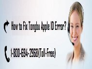 1-800-694-2968 How to Fix Tongbu Apple ID Error? Easy Tips