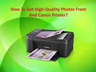 How To Get High-Quality Photos From And Canon Printer