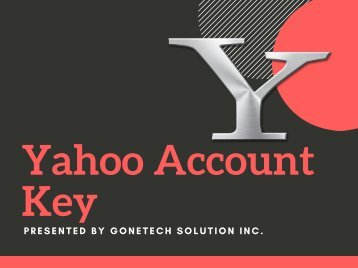 How To Manage, Enable and Use Yahoo Account Key - 2018 | You Should Not Miss