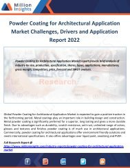 Powder Coating for Architectural Application Market Challenges, Drivers and Application Report 2022
