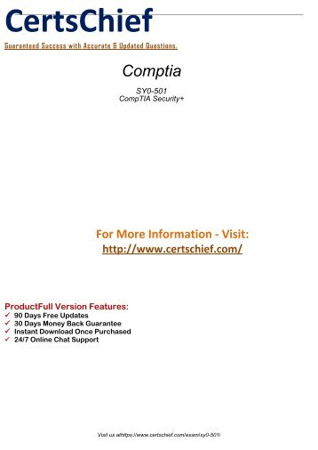 Comptia SY0-501 Exams Study Guides 2018