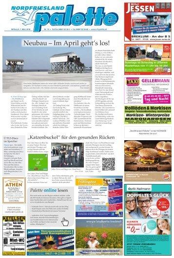 Nordfriesland Palette 10 2018