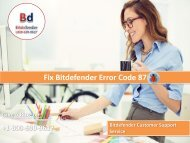 Fix Bitdefender Error Code 87