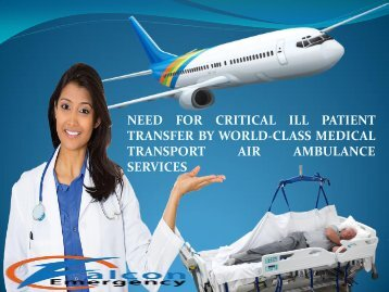 Get an Advantage of Falcon Emegency Air Ambulance Service in Chennai