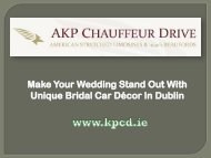 Make Your Wedding Stand Out With Unique Bridal Car Decor In Dublin