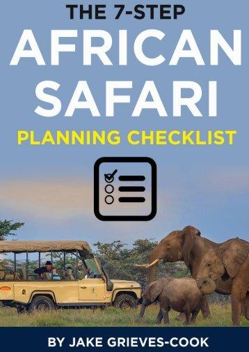 The 7 Step African Safari Planning Checklist